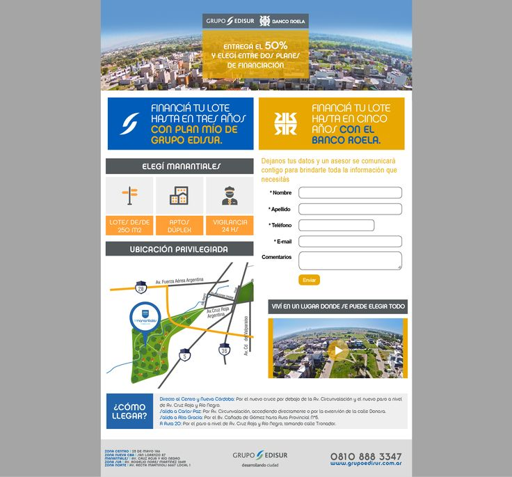 Landing page comercial.