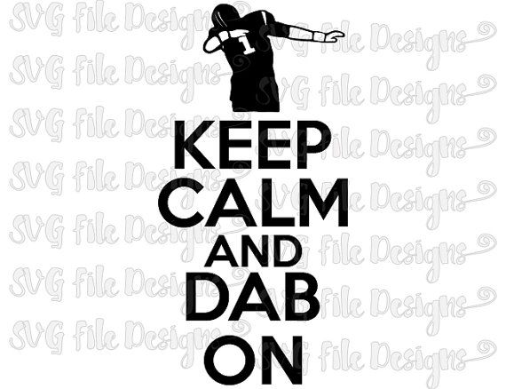 Keep Calm And Dab On Carolina Panthers Football Design Cutting File Set in Svg, Eps, Dxf, Png, and Jpeg Format for Cricut and Silhouette