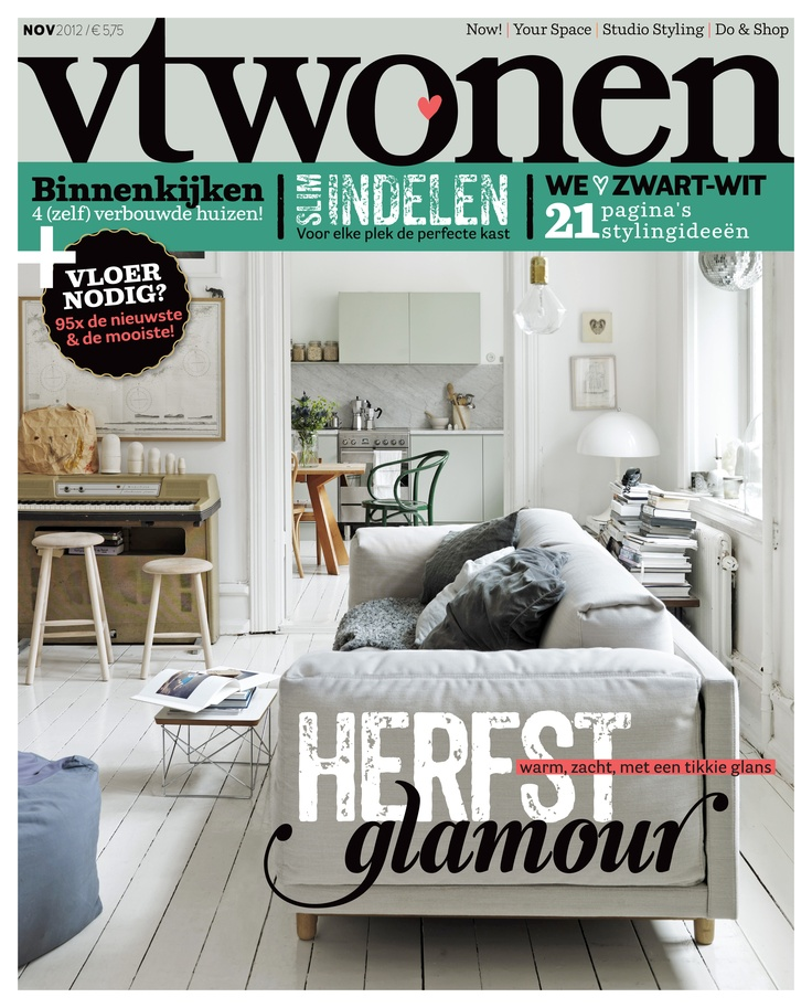 vtwonen cover november magazine cover interior. Black Bedroom Furniture Sets. Home Design Ideas