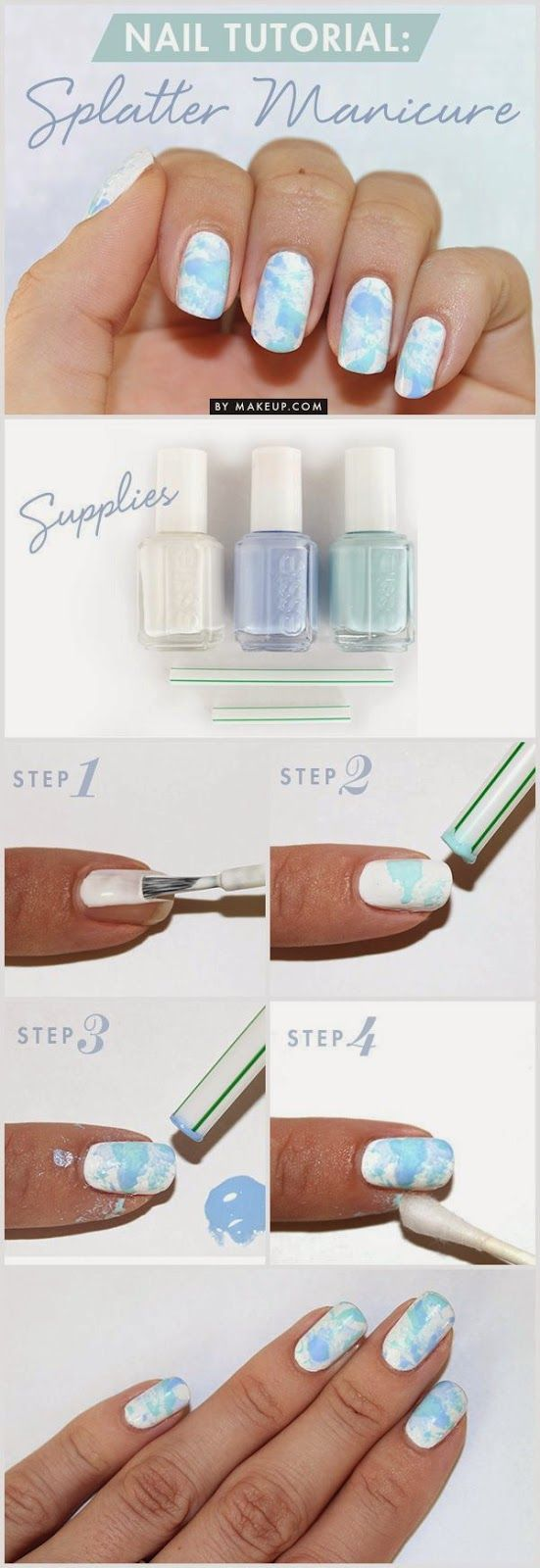 How to: Splatter Manicure   Total beauty