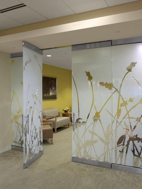 Guest Services: A New Approach | Healthcare Design --- At Lakeland HealthCare's Marie Yeager Cancer Center in St. Joseph, Mich., custom-designed panels coordinate with the overall design to create a private waiting area along the corridor. Photo: BSA LifeStructures