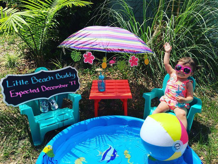 #pregnancy announcement #big sister #beach pregnancy announcement #florida #new baby sibling announcement
