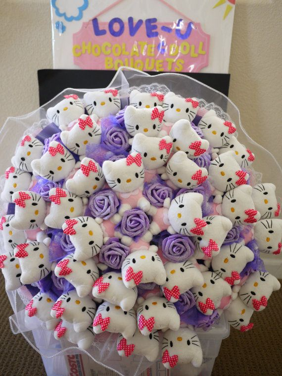Gigantic Hello Kitty Plush Doll Flower Bouquet Give Her