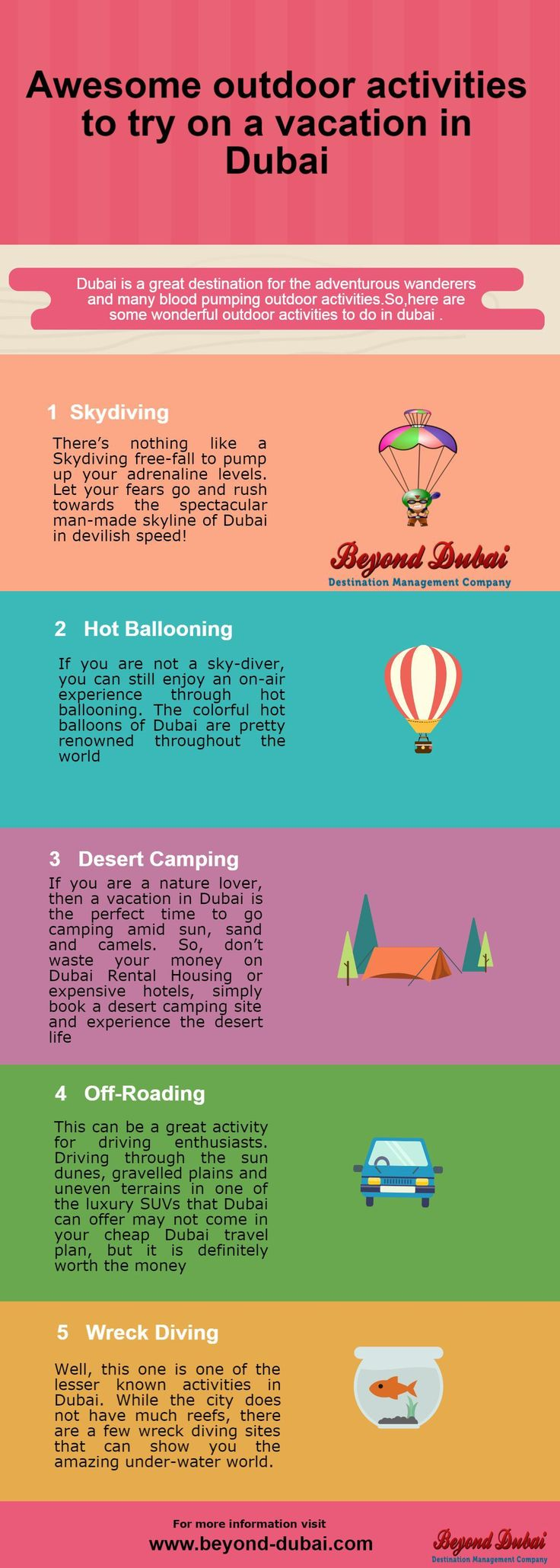 Dubai is a great destination for the adventurous wanderers and many blood pumping outdoor activities.So,here are some wonderful outdoor activities to do in dubai .
