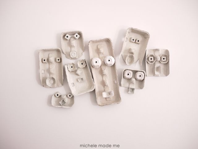 A Bunch More Howling Halloween Egg Cartons Masks - Michele Made Me