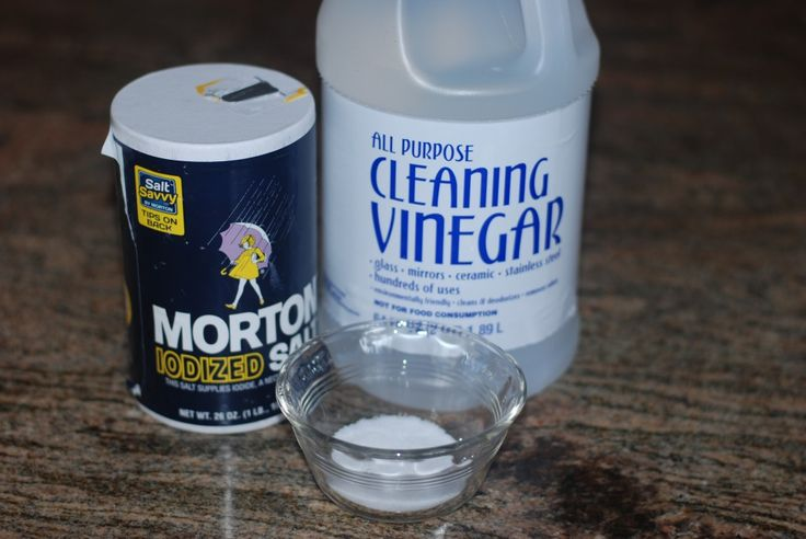 How to remove those hard water deposits.... **use cleaning vinegar (she bought hers at WalMart)