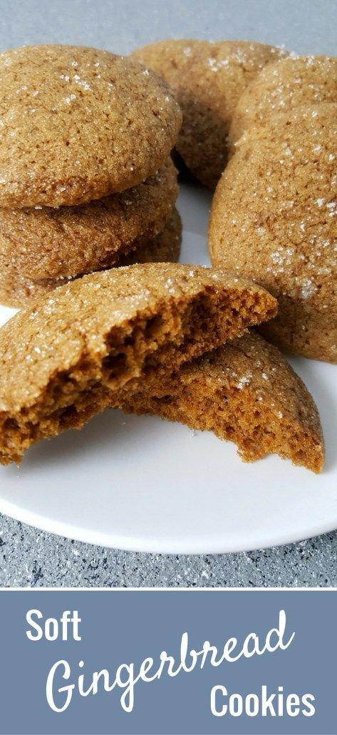 These Soft Gingerbread Cookies combine ginger, molasses, cinnamon and sugar to form the perfect soft batch cookie. They smell and taste amazing and are easy and quick, ready in just 20 minutes. This small batch recipe makes about 12 cookies.