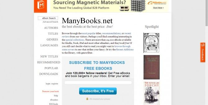 site offer Free Books
