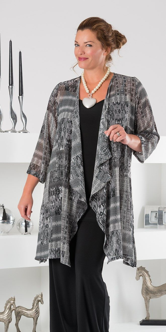 Kasbah black/grey voile waterfall jacket