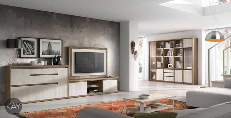 Mueble tv con aparador y estanter as con vitrinas del - Muebles lara catalogo ...