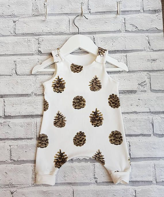 Fir Cone Harem Romper Romper for Baby Romper for Toddlers