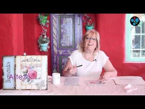 Técnicas Mixtas sobre madera - Mónica Godfroit en ArteZ - YouTube