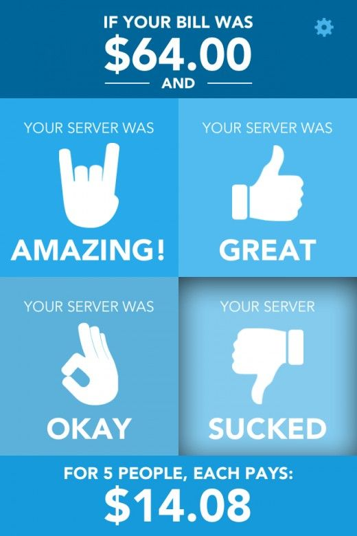 This iOS app calculates tips based on the performance of your server