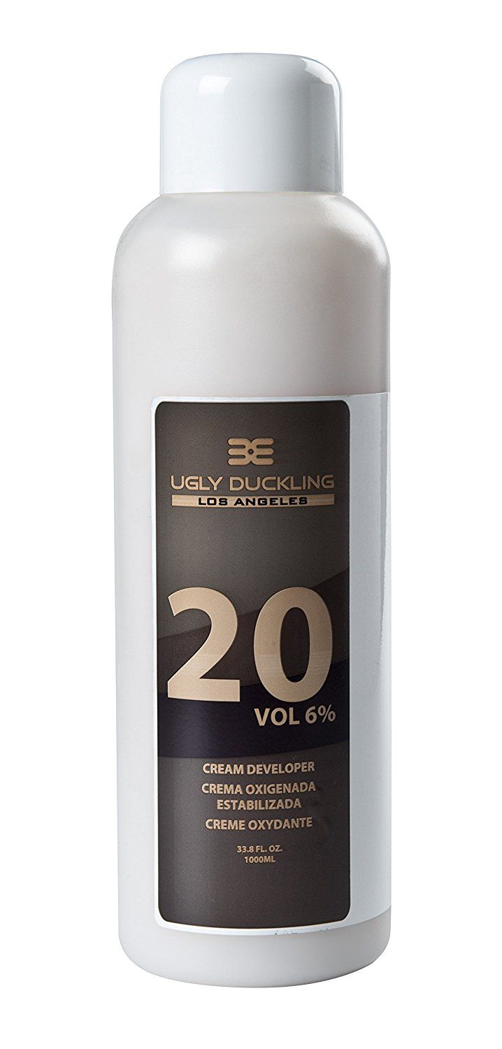 Ugly Duckling Los Angeles Professional 20 Volume (6%) CREAM DEVELOPER 33 oz (1 liter) For salon use, large size. For 1-2 levels of lift. Can be used with all major color brands - Matrix, Paul Mitchell, Redken, L'Oreal, Wella etc. Also with Ugly Duckling Hair Color. Made in Europe >>> Click image for more details.