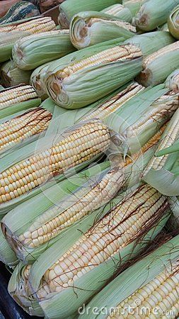 Corn cobs for sale in the market