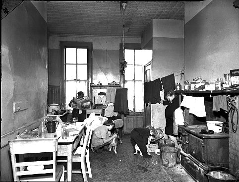 New York Tenement Slums Here Is A Classic Instance Of A