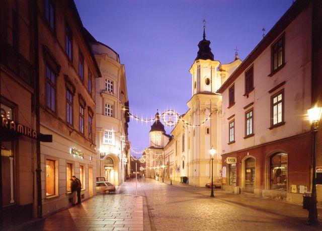 Pilsen at night, Czechia