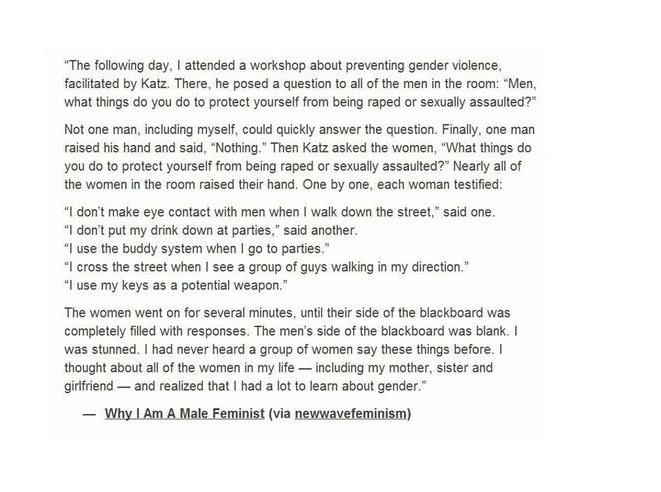 Why I am a Male Feminist.  http://newwavefeminism.tumblr.com