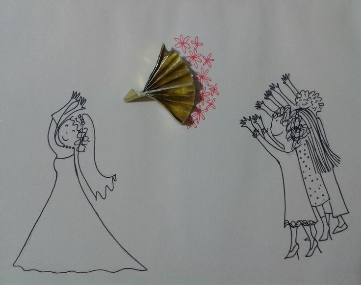 """""""Il lancio del bouquet"""" Cartadicioccolatino"""