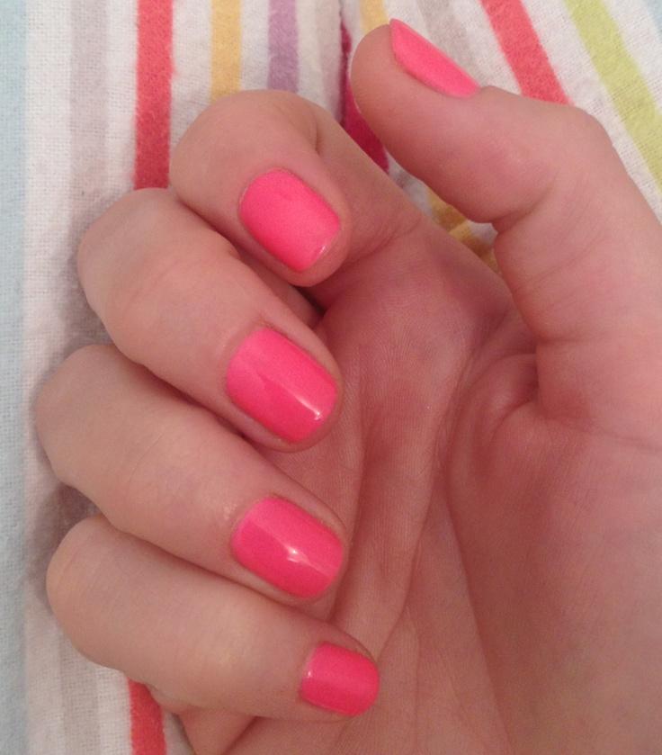 Nails Shellac, Neon Pink Nails, Shellac Shorts Nails, Shellac Nails