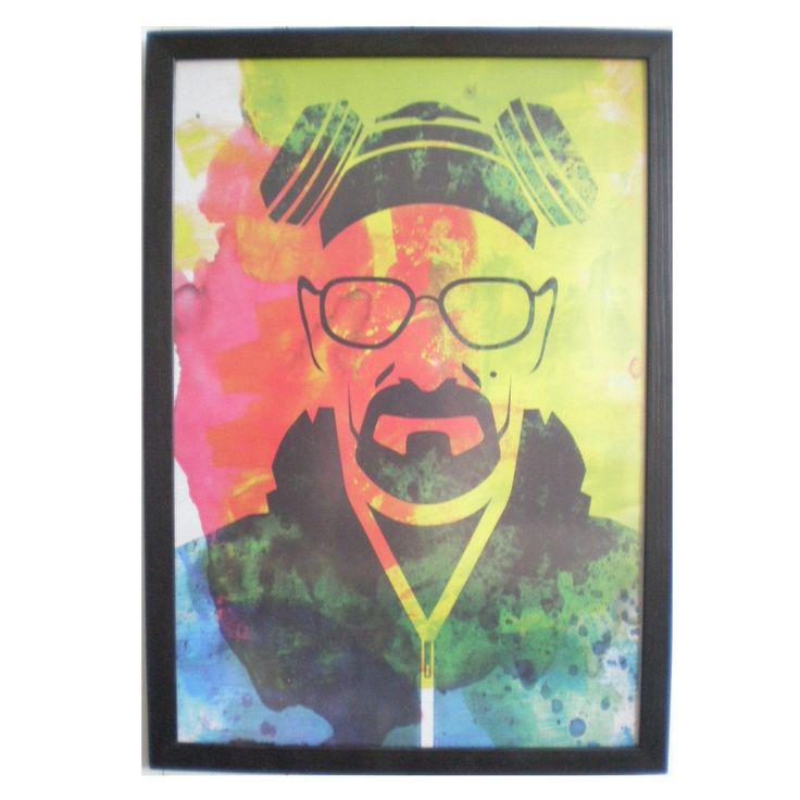 """Framed print Breaking Bad print poster framed 13x19"""" poster black frame multicolor print delicate frame 33cmx48cm frame solidwoodshop"""