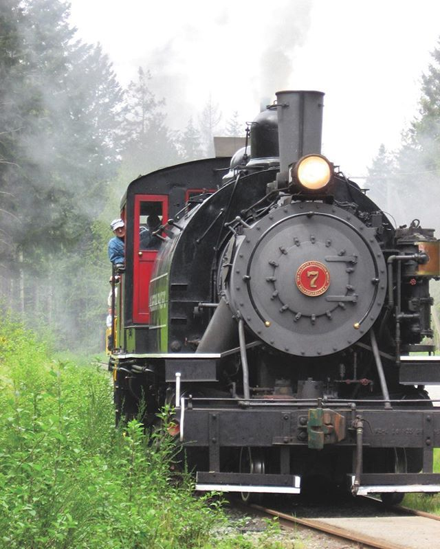 Contest Checkpoint: In #PortAlberni, board this train, pulled by a restored 1929…