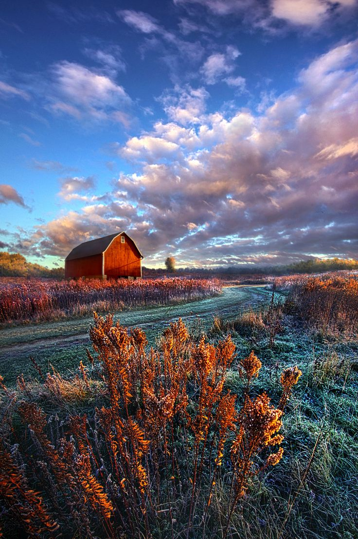 ~~Not All Roads Are Paved | red barn farm landscape | by Phil Koch~~