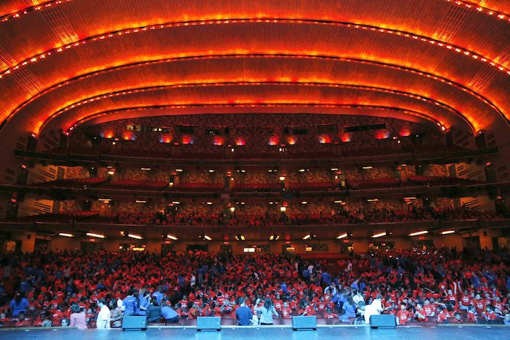 Today, nearly 4,000 third, fourth, and fifth grade scholars from 24 Success Academy schools packed the seats of Manhattan's historic Radio City Music Hall to celebrate the start of next Tuesday's New York State English Language Arts exams and the New York State math test slated for May.