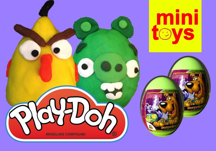 ✩ Angry Birds Play Doh Eggs ✩ Scooby Doo Surprise Eggs ✩