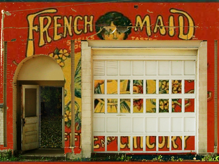 """French Maid Garage 2011  36""""x48"""" Digital Pigment Print  Collage on Canvas"""