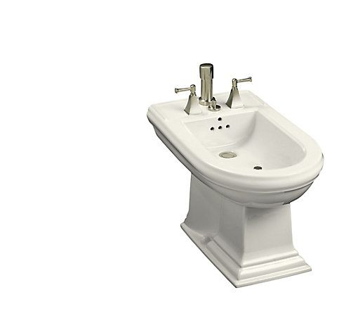 The Memoirs bidet features crisp, traditional design lines that match Memoirs toilets and pedestal lavatories in both the Classic and Stately Suites for unified style in your bath or powder room. This model is constructed of vitreous china for a remarkably clean, sanitary product that maintains its polished shine, and its vertical spray provides accurate, water delivery for convenient, gentle cleansing. Finally, above- or below-floor rough-in options offer flexibility of installation. Also…