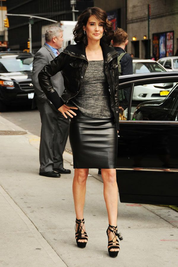 Cobie Smulders at Late Show
