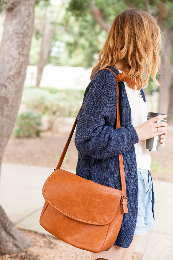 This brown satchel is the perfect bag for the new school year