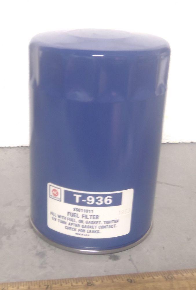 Ac Spark Plug Fuel Filter Element Strainer P N T936 Nos
