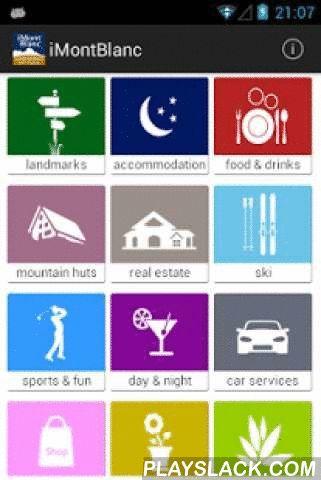 """IMontBlanc  Android App - playslack.com ,  iMontBlanc è una guida semplice, veloce e intuitiva. La prima dedicata a Courmayeur, Monte Bianco (Mont Blanc), La Thuile, Pre Saint Didier, Morgex e La Salle. E' un contenitore di dati raccolti direttamente sul territorio facile da usare, studiato e strutturato per fornire le informazioni con pochissimi """"taps"""" (click). L'applicazione, funzionante anche offline, guida l'utente nella ricerca di qualsiasi servizio o attività commerciale grazie a…"""