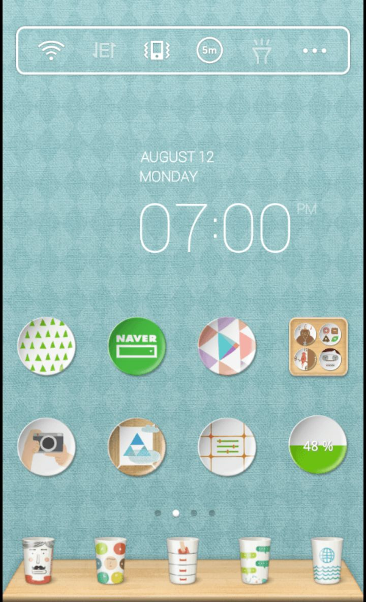 Mint Kitchen theme by dodol launcher