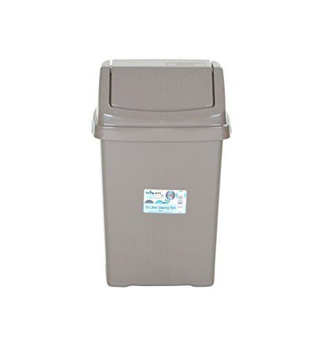 From 5.49 Wham High Grade Plastic Mocha Flip Top Waste Rubbish Kitchen Bin Dustbin (small - 8 Litre)