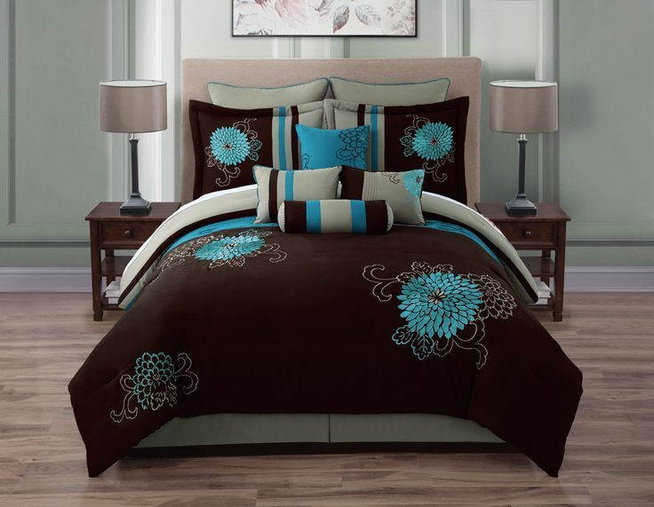 1000+ Ideas About Teal Comforter On Pinterest