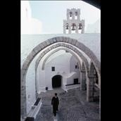 Greek MonkSeptember 1983: The Monastery of St John the Theologian in the town of Hora, on the Aegean island of Patmos. (Photo by Slim Aarons/Getty Images)