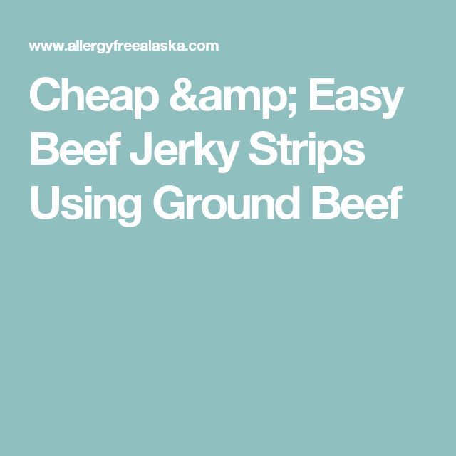 Cheap & Easy Beef Jerky Strips Using Ground Beef
