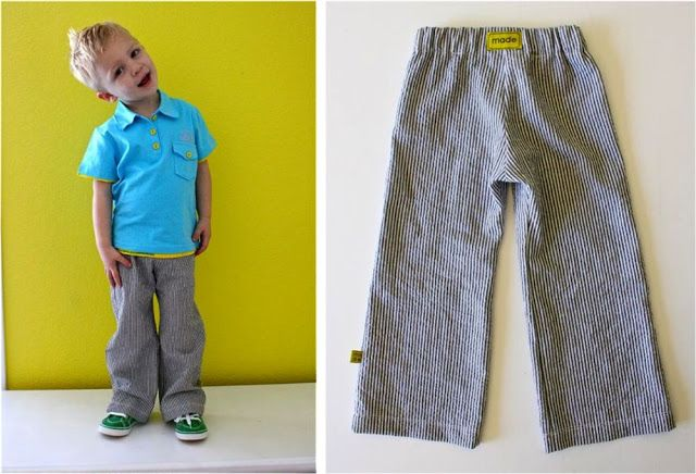 FREE Basic Kid Pants Sewing Pattern and Tutorial | MADE