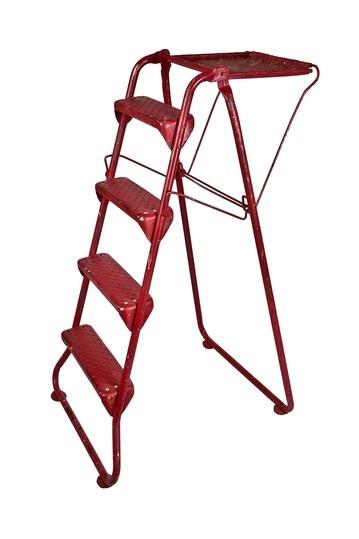 Vintage Folding Metal Painters Ladder With Shelf by Vintage Bazaar on @HauteLook