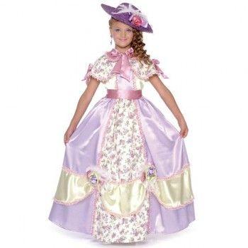 Panoplie CAROLINE DU SUD de 3 à 10 ans pour petites filles  #costume #fille #princesse #robe #fete