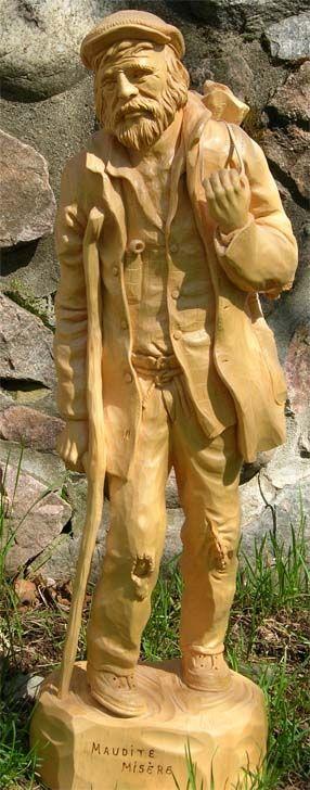 Titre de la sculpture : Maudite misère