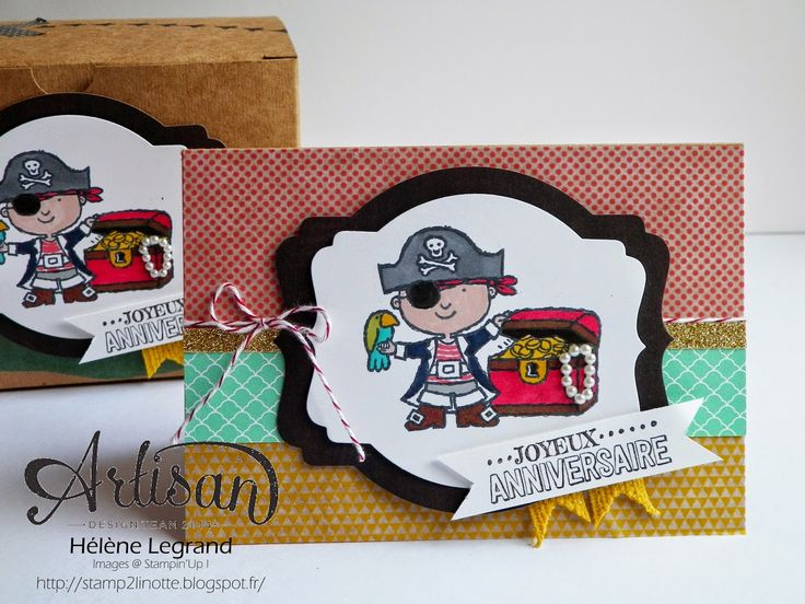 Hey, valentine stamps set are perfect for a pirate party ;) - Hélène LEGRAND - Stamp 2 LiNotte