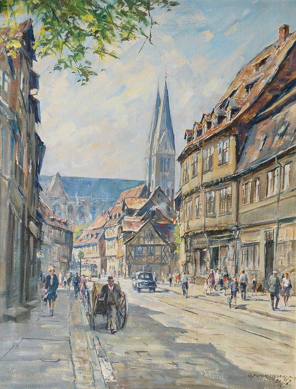 Walter Gemm (1898-1973): Historic District of Halberstadt