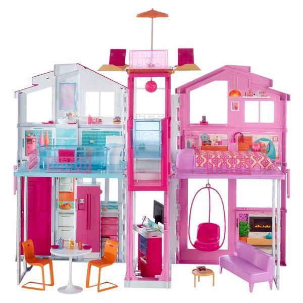 2016 3 Story House Barbie Dream House Barbie Pink