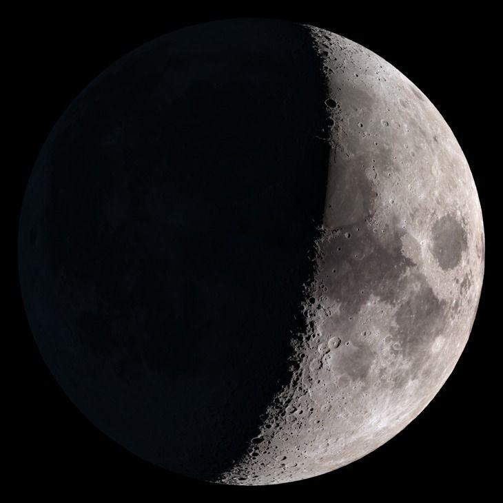 Estado de la Luna hoy Miércoles 31 Mayo 2017 Cuarto Creciente