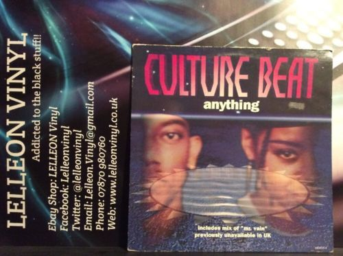"""Culture Beat Anything 12"""" Single Vinyl 660025 Pop 90's Music:Records:Albums/ LPs:Pop:1990s"""