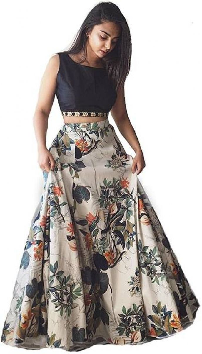 Multi Color Bangalori Silk Lehenga Choli. Bring out the stunning diva in you by wearing this amazing attire embracing attractive Lehenga choli. The perfect ethnic look can be experienced with this outstanding Lehenga choli. It really goes flawless for any special gathering to lure the audience like never before.